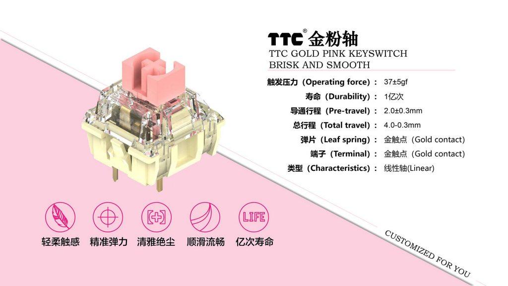 TTC Golden Pink specs