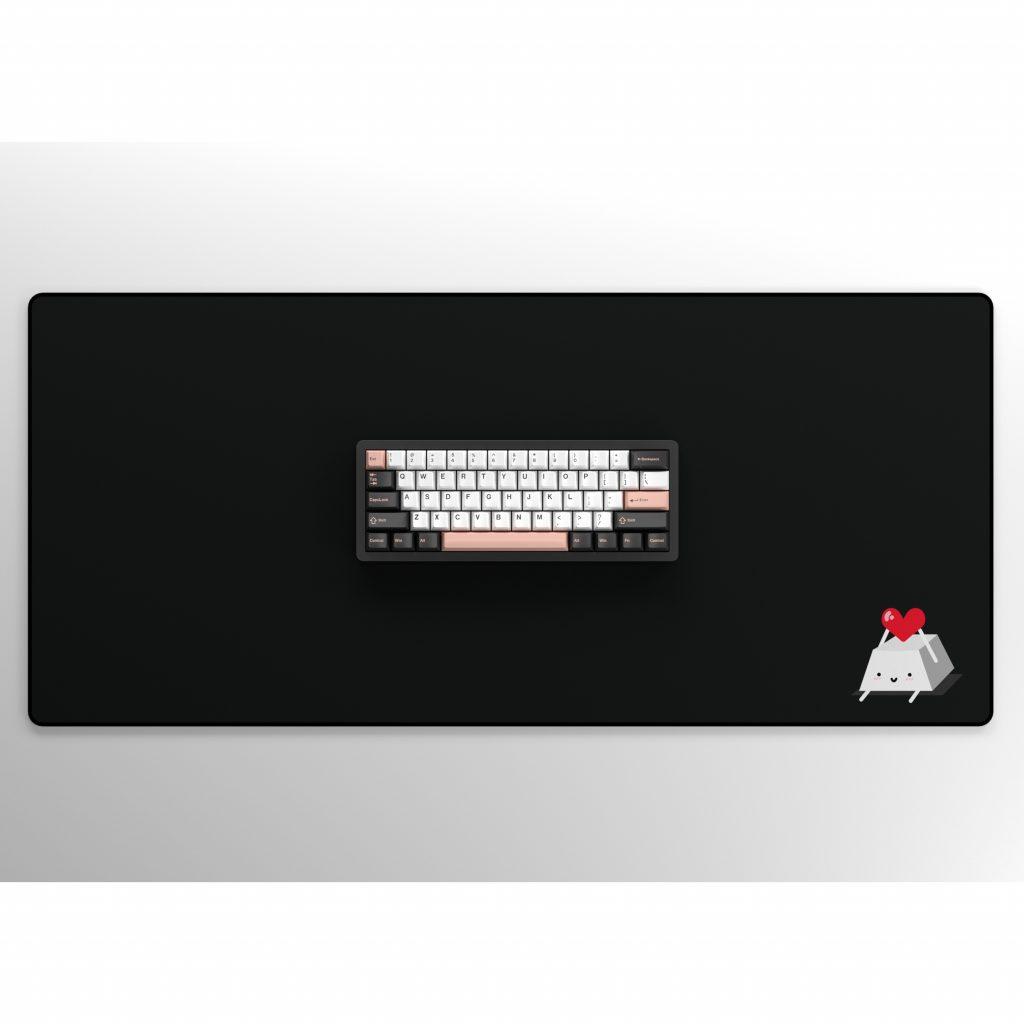 Keycap Buddy Heart Keycap on Black with Keyboard