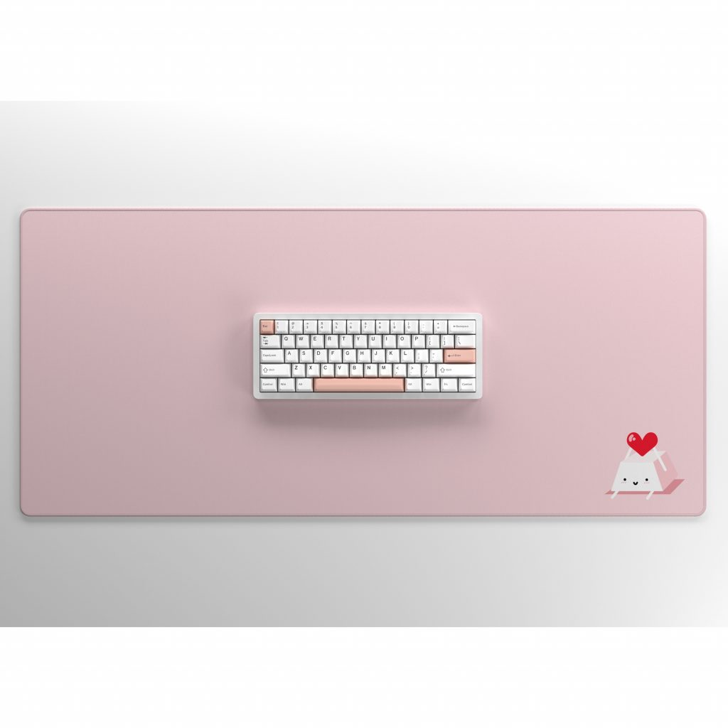 Keycap Buddy Heart Keycap on Pink with Keyboard